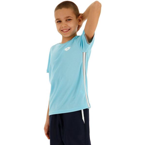 Lotto SQUADRA B TEE PL modrá XL - Chlapčenské tenisové tričko