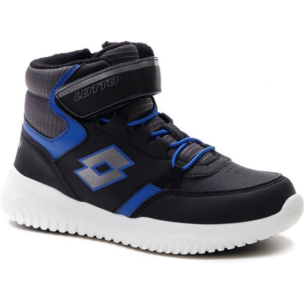 Lotto FUGA AMF MID CL SL modrá 34 - Dětské kotníkové boty