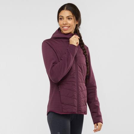 Women's sweatshirt - Salomon RADIANT HYBRID HOODIE W - 2