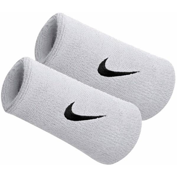 Nike SWOOSH DOUBLEWIDE WRISTBAND bílá  - Potítko
