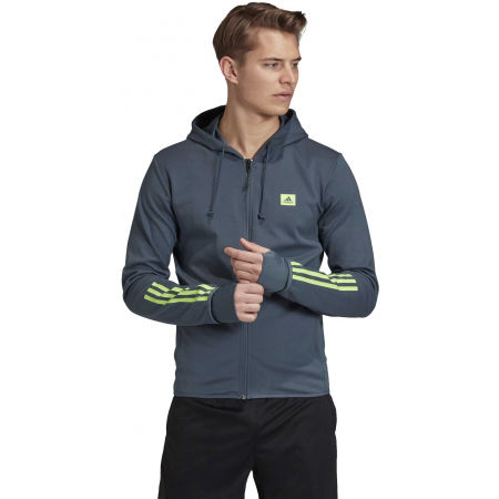 Herren Sweatshirt - adidas DESIGNED TO MOVE HOODED TRACKTOP - 4