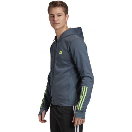 Herren Sweatshirt - adidas DESIGNED TO MOVE HOODED TRACKTOP - 5