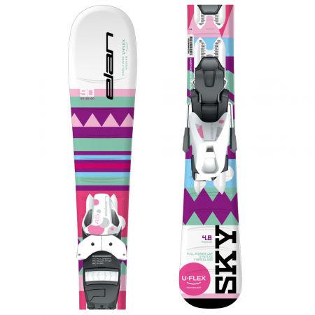 Dívčí sjezdové lyže - Elan SKY QS + EL 4.5 - 1