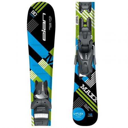 Chlapecké sjezdové lyže - Elan MAXX BLK BLUE QS + EL 7.5 - 1