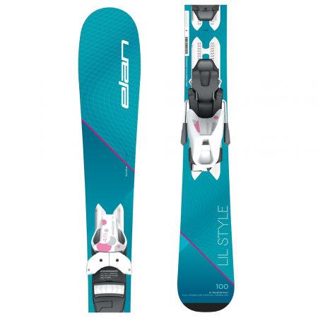 Elan LIL STYLE QS + EL 7.5 - Dívčí sjezdové lyže