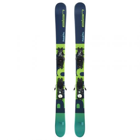 Juniorské zjazdové lyže - Elan PINBALL PRO QS + EL 7.5 WB - 2