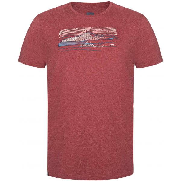 Loap BEAMER červená XL - Pánské triko