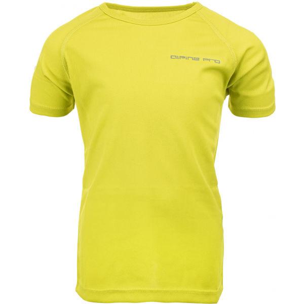 ALPINE PRO HONO světle zelená 116-122 - Dětské triko