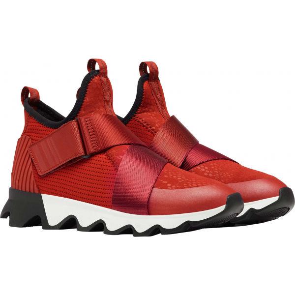 Sorel KINETIC SNEAK MESH červená 8.5 - Dámska obuv na voľný čas