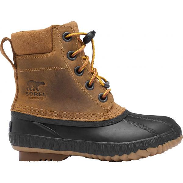 Sorel YOUTH CHEYANNE II VEG - Chlapčenská zimná obuv