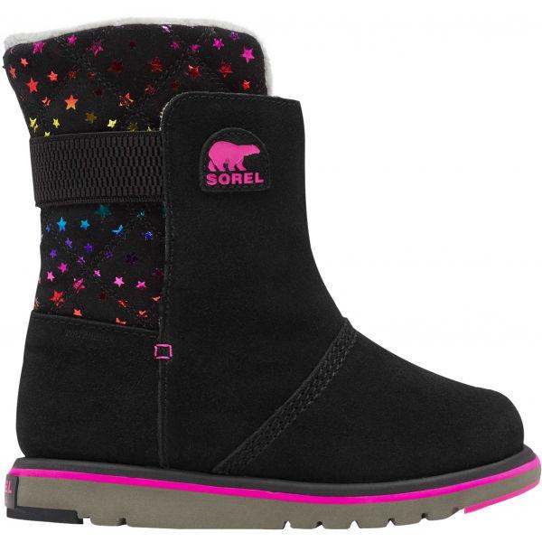 Sorel YOUTH RYLEE čierna 3 - Dievčenská zimná obuv