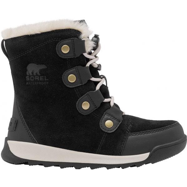 Sorel YOUTH WHITNEY II SUEDE černá 4.5 - Dětská unisex zimní obuv