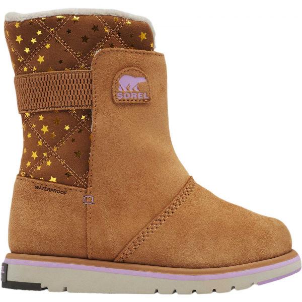 Sorel YOUTH RYLEE hnedá 1 - Dievčenská zimná obuv