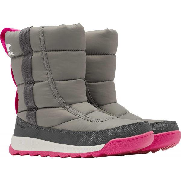 Sorel YOUTH WHITNEY II PUFFY M sivá 3 - Detská zimná obuv
