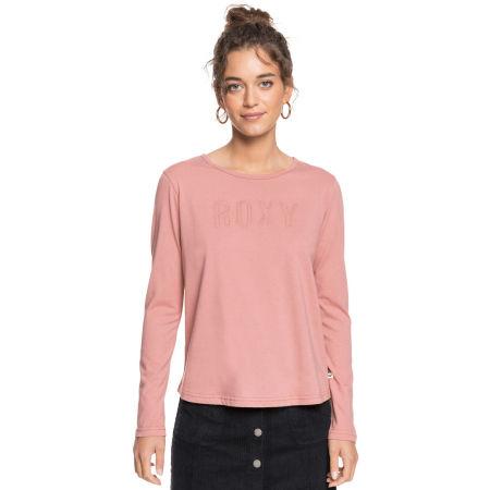 Koszulka damska z długim rękawem - Roxy RED SUNSET LS - 1