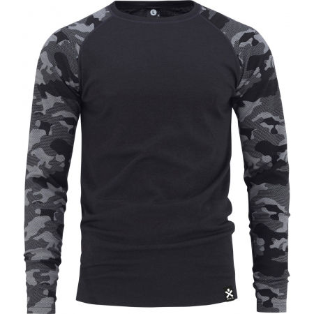 Bula CAMO MERINO WOOL CREW - Men's T-Shirt
