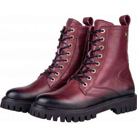 Dámská kožená obuv - Tommy Hilfiger SHADED LEATHER TH BOOTIE - 2
