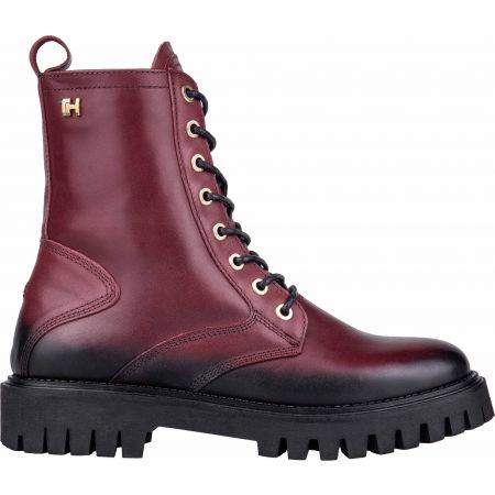 Dámská kožená obuv - Tommy Hilfiger SHADED LEATHER TH BOOTIE - 3