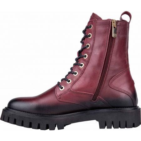 Dámská kožená obuv - Tommy Hilfiger SHADED LEATHER TH BOOTIE - 4