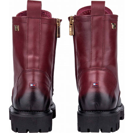 Women's leather footwear - Tommy Hilfiger SHADED LEATHER TH BOOTIE - 7