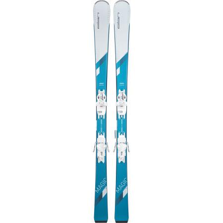 Women's downhill skis - Elan WHITE MAGIC LS + ELW 9 - 2