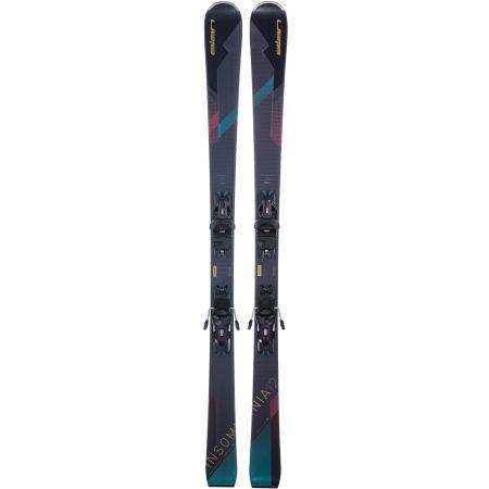 Women's downhill skis - Elan INSOMNIA 12 C PS + ELW 9 BLK - 2