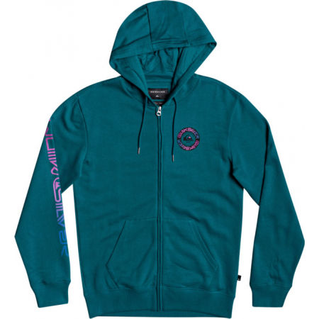 Quiksilver TIME CIRCLE SCREEN FLEECE - Pánská mikina