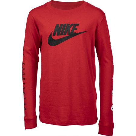 Nike NSW TEE LS FUTURA B - Chlapčenské  tričko s dlhým rukávom