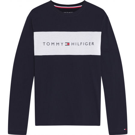 Tommy Hilfiger CN LS TEE LOGO FLAG - Men's long sleeve T-shirt