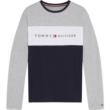 Tommy Hilfiger CN LS TEE LOGO FLAG - Herren Trikot mit langen Ärmeln