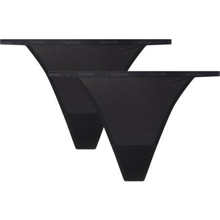 Women's underpants - Calvin Klein STRING BIKINI 2PK
