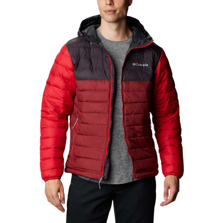Columbia POWDER LITE HOODED JACKET - Pánska bunda