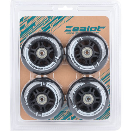 Inlineskates Rollen Set - Zealot 84-82A WHEELS + BEARINGS 4PCS - 2