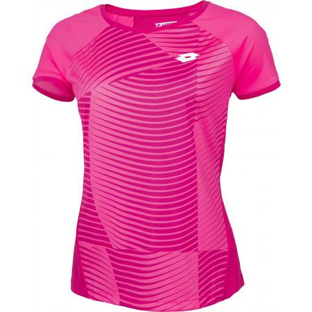 Дамска тениска за тенис - Lotto TOP TEN W II TEE PRT PL - 2