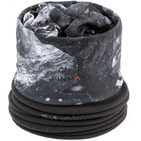 Multifunkční šátek s fleecem - Finmark MULTIFUNKČNÍ ŠÁTEK