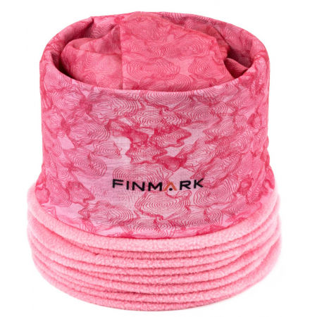 Finmark FULAR MULTIFUNCȚIONAL COPII - Fular multifuncțional cu fleece copii