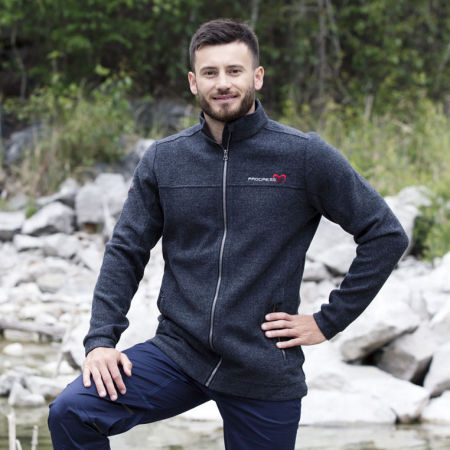 Men's sweatshirt with merino wool - Progress TITAN - 2