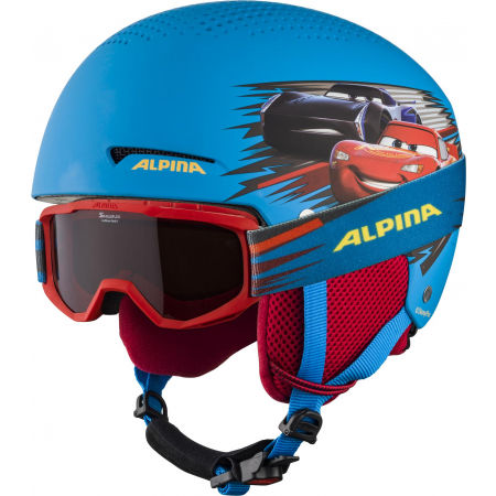 Alpina Sports ZUPO DISNEY SET - Children's ski helmet and goggles