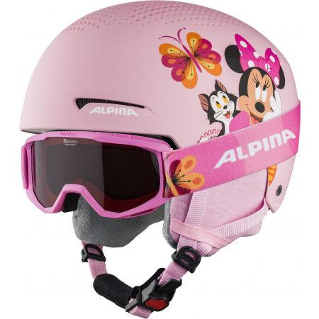 Alpina Sports ZUPO DISNEY SET - Kask narciarski z goglami dziecięcy