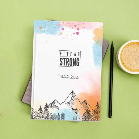 Týdenní fitness diář pro rok 2021 - Fitfab Strong DIÁŘ 2021 - 2