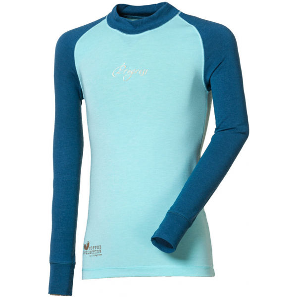 Progress CC NDRD zelená 152 - Dievčenské  funkčné tričko s dlhým rukávom