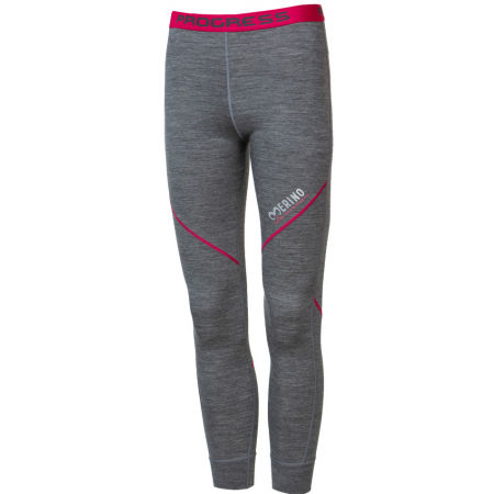 Progress MERINO LT-G - Girls' functional tights with merino wool