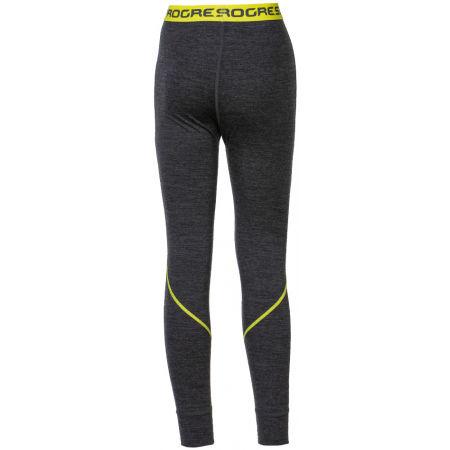 Pantaloni funcționali din lână Merinos pentru băieți - Progress MERINO LT-B - 2