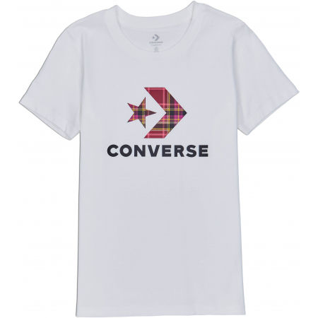 Converse WOMENS STAR CHEVRON PLAID INFILL TEE - Дамска тениска
