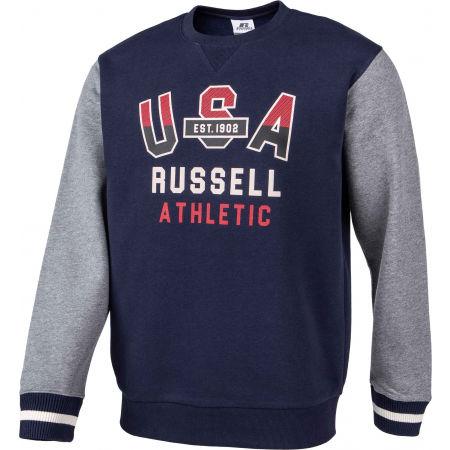 Men's sweatshirt - Russell Athletic PRINTED CREWNECK SWEATSHIRT - 2