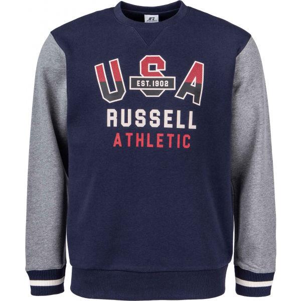 Russell Athletic PRINTED CREWNECK SWEATSHIRT  M - Pánská mikina