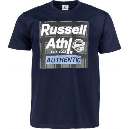 Мъжка тениска - Russell Athletic S/S CREWNECK TEE SHIRT - 1