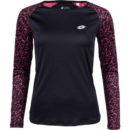 Lotto SPEEDRUN W III TEE LS PRT PL - Dámské sportovní tričko