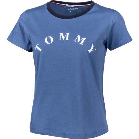 Dámské tričko - Tommy Hilfiger SS TEE SLOGAN - 2