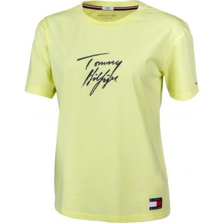 Dámské tričko - Tommy Hilfiger CN TEE SS LOGO - 2